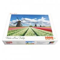 Bộ tranh xếp hình cao cấp 1000 mảnh ghép – Vườn Hoa Tulip
