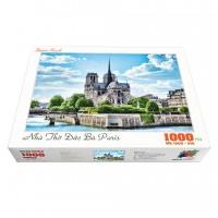 Bộ tranh xếp hình cao cấp 1000 mảnh ghép – Nhà Thờ Đức Bà Paris
