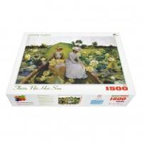Bộ tranh xếp hình cao cấp 1500 mảnh – Thiếu Nữ Hái Sen (60x100cm)