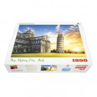 Bộ tranh xếp hình cao cấp 1500 mảnh – Tháp Nghiêng Pisa (60x100cm)