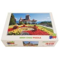 Bộ tranh xếp hình 315 mảnh – Lâu Đài Spiez, Thụy Sĩ (30x44cm)